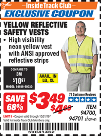 www.hfqpdb.com - YELLOW REFLECTIVE SAFETY VESTS Lot No. 94701/94700
