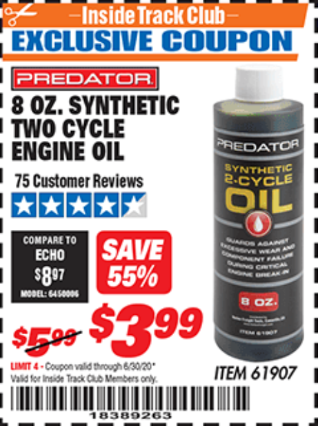 www.hfqpdb.com - 8 OZ. SYNTHETIC TWO CYCLE ENGINE OIL Lot No. 61907