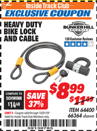 www.hfqpdb.com - HEAVY DUTY BIKE LOCK AND CABLE  Lot No. 66364