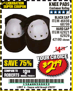 Harbor Freight KNEE PADS coupon