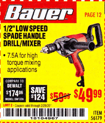 Harbor Freight BAUER 1/2