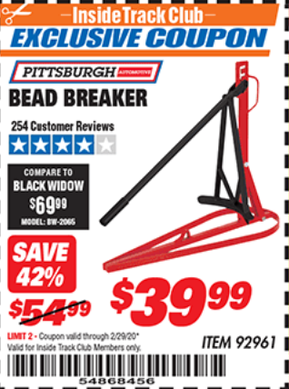 Harbor Freight BEAD BREAKER coupon