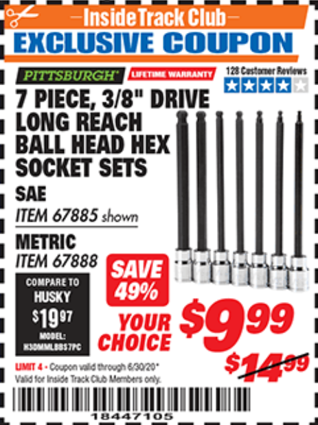 Harbor Freight 7 PIECE, 3/8