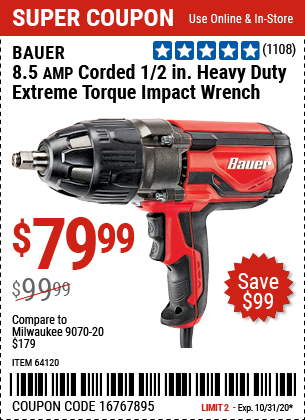 Harbor Freight 8.5 AMP CORDED 1/2