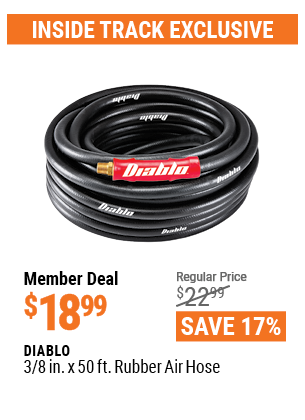 www.hfqpdb.com - DIABLO 3/8 IN. X 50 FT. RUBBER AIR HOSE Lot No. 62884, 62890