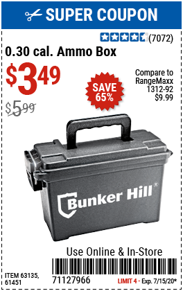 Harbor Freight AMMO BOX coupon