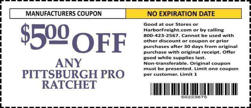Harbor Freight 5 percent off coupon