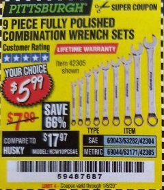 Harbor Freight Tools Coupon Database - Coupon Search for: PIECE