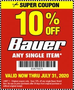Harbor Freight Coupon 10 percent off coupon expires: 7/31/20