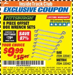 Harbor Freight ITC Coupon 8 PIECE OFFSET BOX WRENCH SETS Lot No. 32041/32042 Expired: 5/31/19 - $9.99
