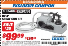 Harbor Freight ITC Coupon HVLP SPRAY GUN KIT Lot No. 44677 Expired: 2/28/19 - $99.99