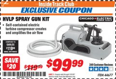 Harbor Freight ITC Coupon HVLP SPRAY GUN KIT Lot No. 44677 Expired: 1/31/20 - $99.99