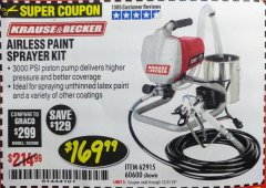 Harbor Freight Coupon AIRLESS PAINT SPRAYER KIT Lot No. 62915/60600 Expired: 12/31/18 - $169.99