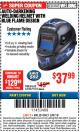 Harbor Freight ITC Coupon AUTO-DARKENING WELDING HELMET WITH BLUE FLAME DESIGN Lot No. 91214/61610/63122 Expired: 3/8/18 - $37.99
