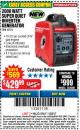 Harbor Freight Coupon 2000 PEAK / 1600 RUNNING WATTS 2.8 HP (79.7 CC) PORTABLE INVERTER GENERATOR Lot No. 62523 Expired: 11/22/17 - $429.99