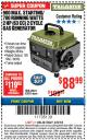 Harbor Freight ITC Coupon TAILGATOR 900 PEAK / 700 RUNNING WATTS, 2HP (63CC) 2 CYCLE GAS GENERATOR EPA/CARB Lot No. 63024/63025 Expired: 3/8/18 - $88.99