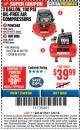 Harbor Freight ITC Coupon 3 GALLON, 100 PSI OILLESS AIR COMPRESSORS Lot No. 69269/97080/60637/61615/95275 Expired: 3/8/18 - $39.99