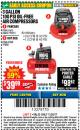 Harbor Freight Coupon 3 GALLON, 100 PSI OILLESS AIR COMPRESSORS Lot No. 69269/97080/60637/61615/95275 Expired: 11/22/17 - $39.99