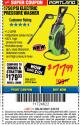 Harbor Freight ITC Coupon 1750 PSI ELECTRIC PRESSURE WASHER Lot No. 63254/63255 Expired: 3/8/18 - $77.99