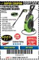 Harbor Freight Coupon 1750 PSI ELECTRIC PRESSURE WASHER Lot No. 63254/63255 Expired: 10/31/17 - $77.99