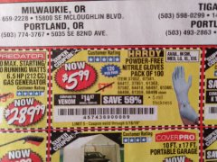 Harbor Freight Coupon 5 MIL NITRILE GLOVES 100/PK Lot No. 61363/ 68497/ 68498 Expired: 5/18/19 - $5.99