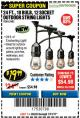 Harbor Freight Coupon 24 FT., 18 BULB, 12 SOCKET OUTDOOR STRING LIGHTS Lot No. 64486/63843/64739 Expired: 7/31/17 - $19.99