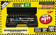 Harbor Freight Coupon 51 PIECE SAE AND METRIC SOCKET SET Lot No. 35338/63013 Expired: 2/8/20 - $9.99