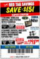 Harbor Freight Coupon 8 CHANNEL SURVEILLANCE DVR WITH 4 HD CAMERAS AND MOBILE MONITORING CAPABILITIES Lot No. 63890 Expired: 12/31/17 - $198.39