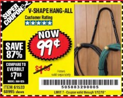 Harbor Freight Coupon V-SHAPE HANG-ALL Lot No. 38442/61430/61533/68995 Expired: 1/12/19 - $0.99