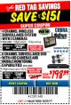 Harbor Freight Coupon 4 CHANNEL WIRELESS SURVEILLANCE SYSTEM WITH 2 CAMERAS Lot No. 63842 Expired: 12/31/17 - $198.39