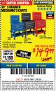 "Harbor Freight ITC Coupon 30"", 5 DRAWER MECHANIC'S CARTS (RED, BLUE & BLACK) Lot No. 64031/64033/64032/64030/61427/64059/64060/64061/63308/95272 Expired: 3/8/18 - $149.99"