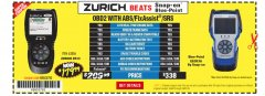 Harbor Freight Coupon ZURICH OBD2 SCANNER WITH ABS ZR13 Lot No. 63806 Expired: 3/31/19 - $179.99
