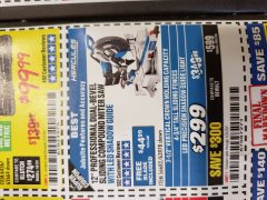 "Harbor Freight Coupon HERCULES PROFESSIONAL 12"" DOUBLE-BEVEL SLIDING MITER SAW Lot No. 63978/56682 Expired: 1/31/20 - $299.99"