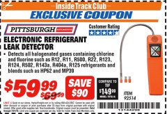 Harbor Freight ITC Coupon ELECTRONIC REFRIGERANT LEAK DETECTOR Lot No. 92514 Expired: 7/31/18 - $59.99
