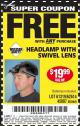 Harbor Freight FREE Coupon HEADLAMP WITH SWIVEL LENS Lot No. 45807/61319/63598/62614 Expired: 10/15/16 - FWP
