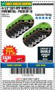 "Harbor Freight Coupon WARRIOR 4-1/2"" CUT-OFF WHEELS FOR METAL - PACK OF 10 Lot No. 61195/45430 Expired: 11/22/17 - $5.89"