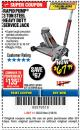 Harbor Freight Coupon RAPID PUMP 3 TON HEAVY DUTY STEEL FLOOR JACK Lot No. 68048/69227/62116/62590/62584 Expired: 3/18/18 - $67.99