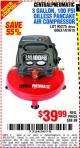 Harbor Freight Coupon 3 GALLON, 100 PSI OILLESS PANCAKE AIR COMPRESSOR Lot No. 95275/60637/69486/61615 Expired: 8/19/15 - $39.99