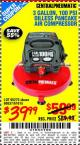 Harbor Freight Coupon 3 GALLON, 100 PSI OILLESS PANCAKE AIR COMPRESSOR Lot No. 95275/60637/69486/61615 Expired: 9/17/15 - $39.99