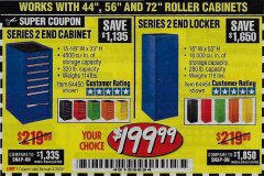 Harbor Freight Coupon US GENERAL SERIES 2 END LOCKER Lot No. 64454, 64452, 64157, 64968, 64969, 64970 EXPIRES: 6/30/20 - $199.99