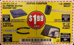 "Harbor Freight Coupon 8"" NEEDLE NOSE PLIERS Lot No. 63824 Valid Thru: 2/29/20 - $1.99"