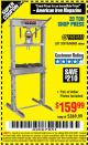 Harbor Freight Coupon 20 TON SHOP PRESS Lot No. 32879/60603 Expired: 5/1/16 - $159.99
