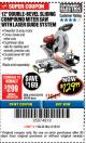 "Harbor Freight Coupon 12"" SLIDING COMPOUND DOUBLE-BEVEL MITER SAW WITH LASER GUIDE Lot No. 69684/61776/61969/61970 Expired: 3/18/18 - $129.99"