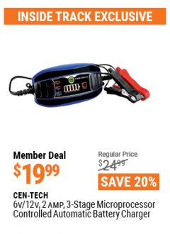 Harbor Freight ITC Coupon 6/12V BATTERY CHARGER Lot No. 57045 Valid: 3/26/21 - 4/29/21 - $19.99