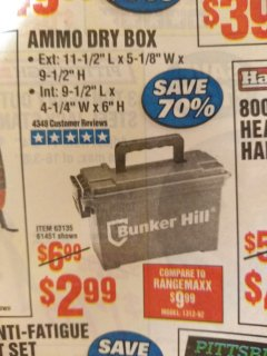 Harbor Freight Coupon AMMO BOX Lot No. 61451/63135 Expired: 8/7/19 - $2.99