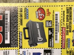 Harbor Freight Coupon AMMO BOX Lot No. 61451/63135 Expired: 3/6/20 - $3.99