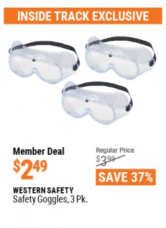 Harbor Freight ITC Coupon SAFETY GOGGLES PACK OF 3 Lot No. 94027 Valid Thru: 4/29/21 - $2.49