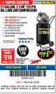 Harbor Freight Coupon 2.5 HP, 21 GALLON 125 PSI VERTICAL AIR COMPRESSOR Lot No. 67847/61454/61693/69091/62803/63635 Expired: 3/18/18 - $148.72