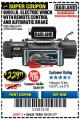 Harbor Freight Coupon 9000 LB. ELECTRIC WINCH WITH REMOTE CONTROL AND AUTOMATIC BRAKE Lot No. 61346/61325/62596/62278/68143 Expired: 10/31/17 - $229.99