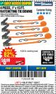 "Harbor Freight Coupon 4 PIECE 1"" X 15 FT. RATCHETING TIE DOWNS Lot No. 90984/60405/61524/62322/63056/63057/63150 Expired: 11/22/17 - $6.99"